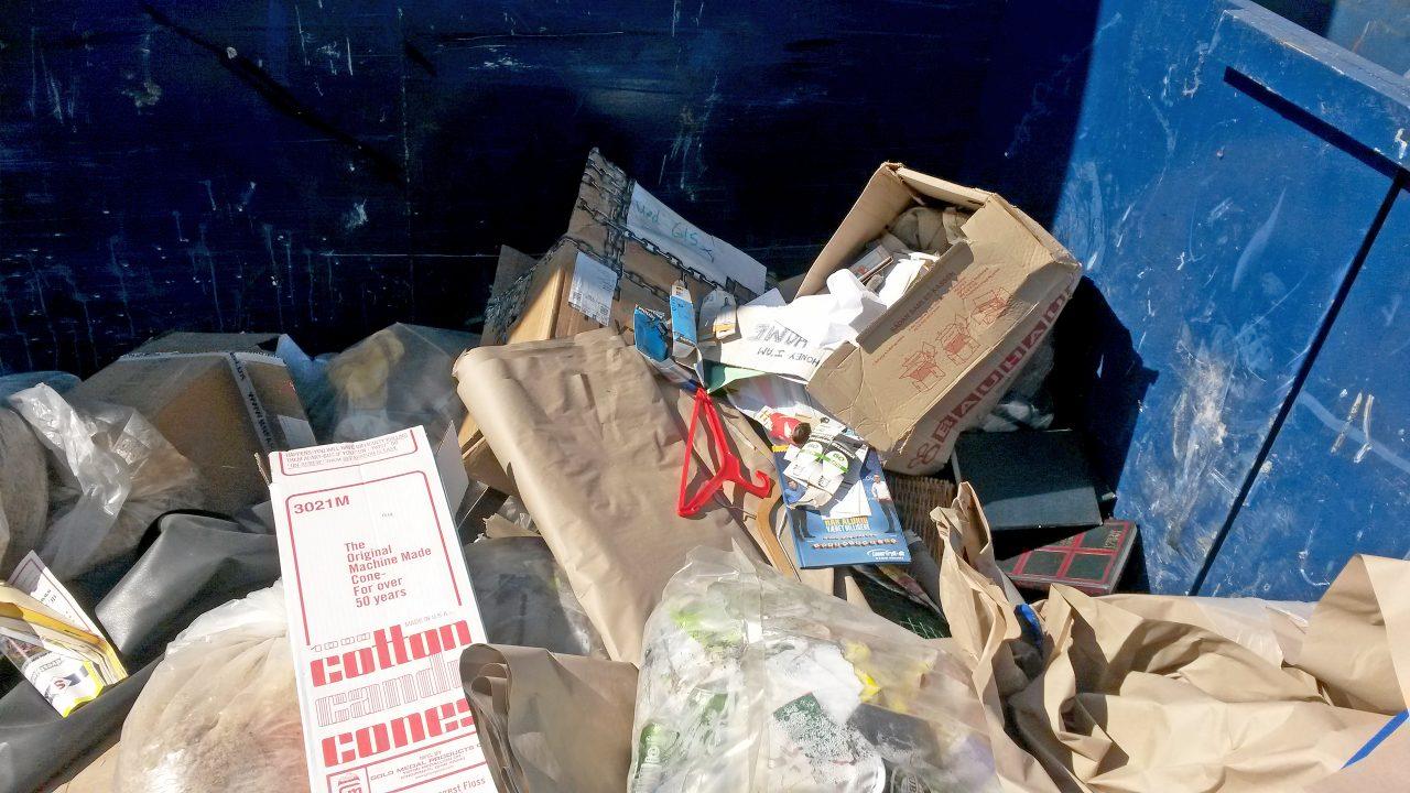 Ikke sorteret affald