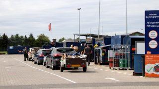 Biler på genbrugsplads