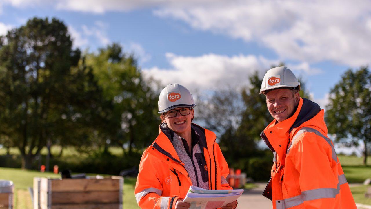 Fors medarbejdere på byggeplads